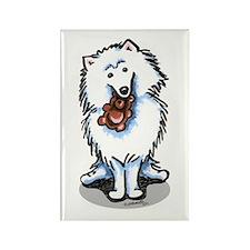 American Eskimo Dog Rectangle Magnet (10 pack)