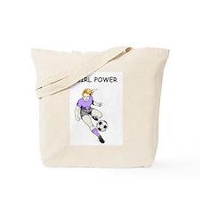Girl Power, Purple Tote Bag