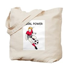 Girl Power, Red Tote Bag