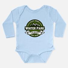 Winter Park Olive Long Sleeve Infant Bodysuit