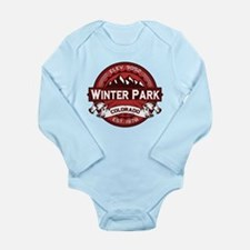 Winter Park Red Long Sleeve Infant Bodysuit