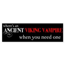 Ancient Viking Vampire Bumper Bumper Sticker