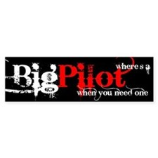 Big Pilot Bumper Bumper Sticker