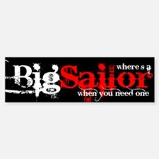 Big Sailor Bumper Bumper Bumper Sticker