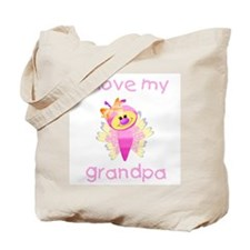 I love my grandpa (girl butterfly) Tote Bag
