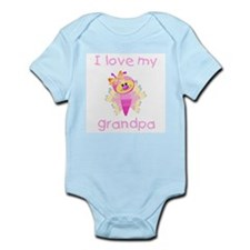 I love my grandpa (girl butterfly) Infant Creeper