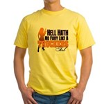 Hell Hath No Fury - Trucker's Girl Yellow T-Shirt