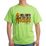 Hell Hath No Fury - Trucker's Girl Green T-Shirt