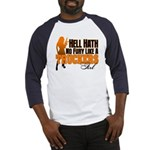 Hell Hath No Fury - Trucker's Girl Baseball Jersey