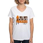 Hell Hath No Fury - Trucker Women's V-Neck T-Shirt