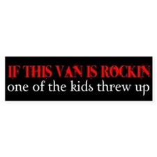 Mini Van Humor Bumper Bumper Sticker