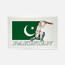 Pakistan Cricket Player Rectangle Magnet (10 pack)
