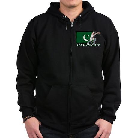 Pakistan Cricket Player Zip Hoodie (dark)