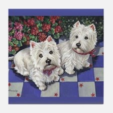 WESTIE SUMMER BREEZE Tile Coaster