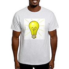 Light Bulb Ash Grey T-Shirt