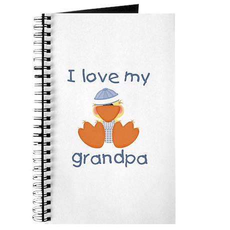 I love my grandpa (baby boy ducky) Journal