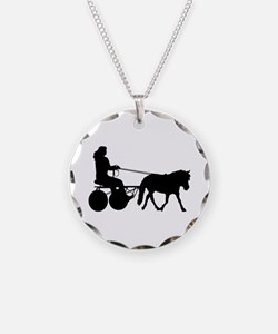driving silhouette Necklace