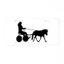 driving silhouette Aluminum License Plate