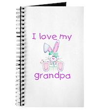 I love my grandpa (girl bunny) Journal