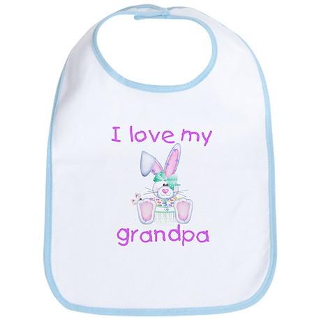I love my grandpa (girl bunny) Bib