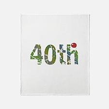 40th Birthday Throw Blanket