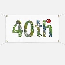 40th Birthday Banner