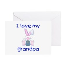 I love my grandpa (boy bunny) Greeting Cards (Pack
