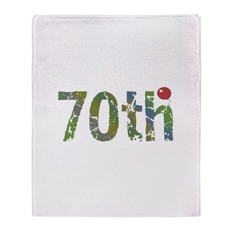 70th Birthday Throw Blanket