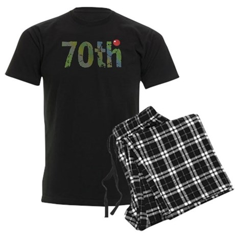 70th Birthday Men's Dark Pajamas