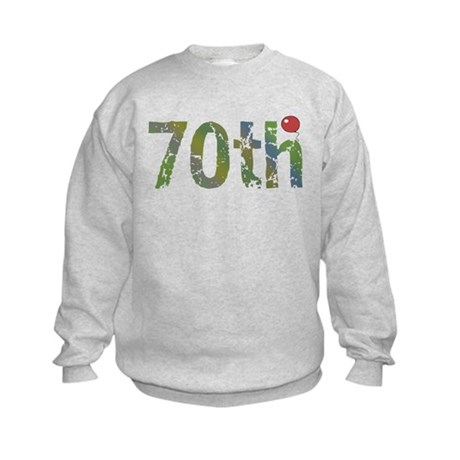 70th Birthday Kids Sweatshirt