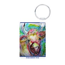 Cow, fun, colorful, Keychains
