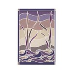 Sunset Marsh Batik Rectangle Magnet