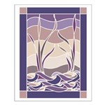 Sunset Marsh Batik Small Poster