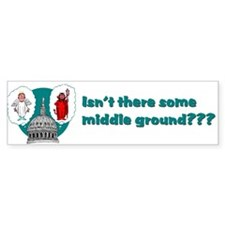 Middle Ground Bumper Bumper Sticker