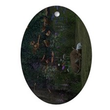 Fawn and Rabbit Ornament (Oval)