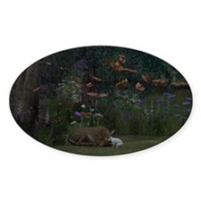 Fawn and Rabbit Decal