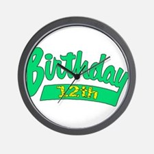 12th Birthday Wall Clock