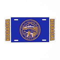 Nebraska Aluminum License Plate