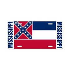 Mississippi Aluminum License Plate