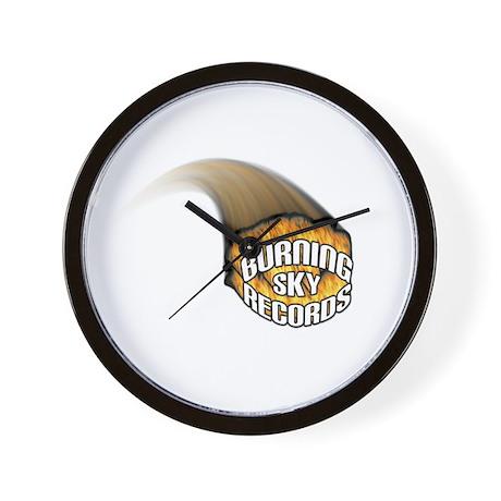 Burning Sky Records Logo Wall Clock
