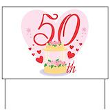 Funny 50th birthday Yard Signs