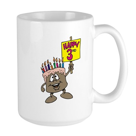 3rd Birthday Large Mug