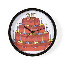 35th Birthday Wall Clock