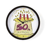 50th birthday Wall Clocks
