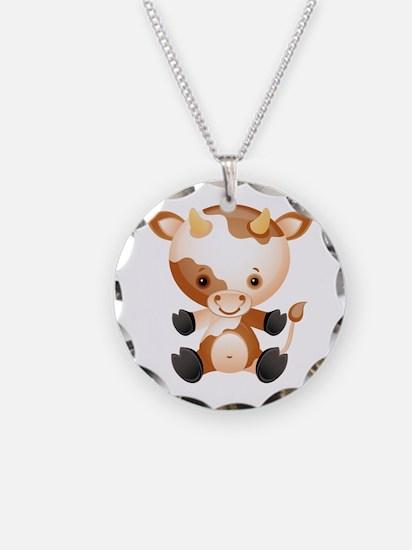 Cute Kawaii Cartoon cow Necklace