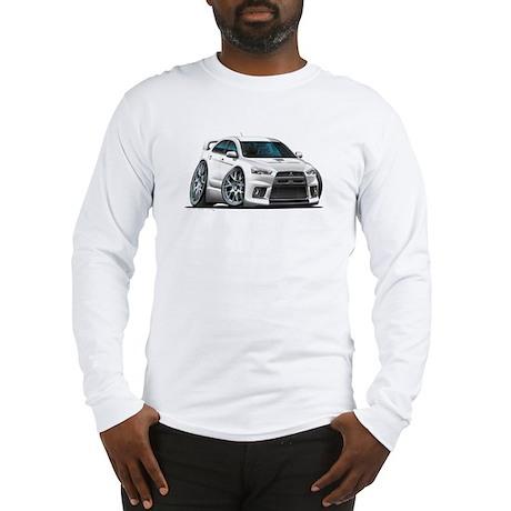 Mitsubishi Evo White Car Long Sleeve T-Shirt