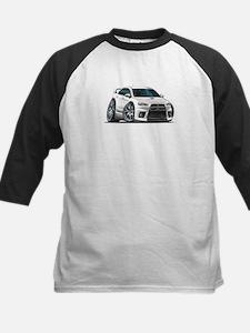 Mitsubishi Evo White Car Kids Baseball Jersey