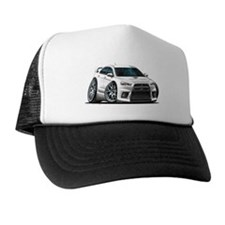 Mitsubishi Evo White Car Trucker Hat