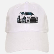 Mitsubishi Evo White Car Baseball Baseball Cap