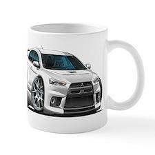 Mitsubishi Evo White Car Mug
